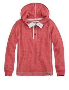 Hooded Waffle Henley | Boys Tops Activewear | Shop Brothers