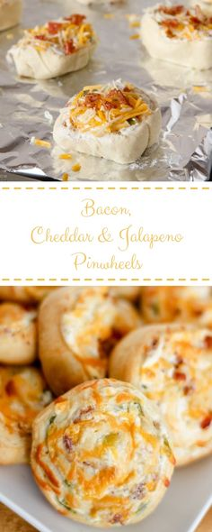 Bacon, Cheddar & Jalapeno Pinwheels - My Like&Share Jalapeno Recipes, Bacon Recipes, Fruit Recipes, Gourmet Recipes, Snack Recipes, Cooking Recipes, Snacks, Easy Recipes, Breakfast For A Crowd