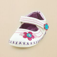 newborn - shoes - li'l flower mary jane | Children's Clothing | Kids Clothes | The Children's Place