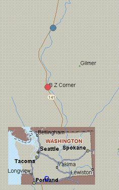 Map for White Salmon River, Washington, white water, Green Truss Bridge to BZ Corners