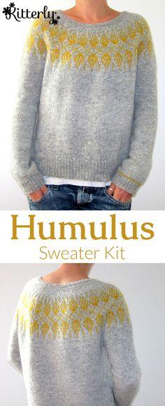 Humulus sweater knitting kit designed by Isabell Kraemer. #KitterlyKits