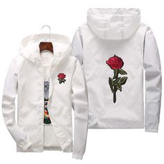 Shop a great selection of Rose Floral Jacket Mens Lightweight Windbreaker College Jackets. Find new offer and Similar products for Rose Floral Jacket Mens Lightweight Windbreaker College Jackets. Windbreaker Jacket Mens, Hooded Bomber Jacket, Hoodie Jacket, Bomber Coat, Camouflage, Rose Jacket, Floral Jacket, Color Style, Japanese Streetwear