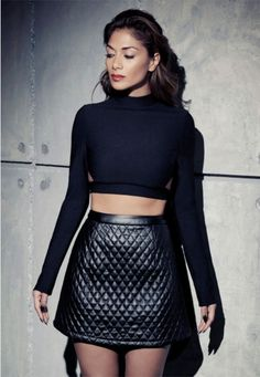 Leather quilted skirt from misguided