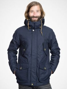 Great dark navy parka by Elvine for the cold days ahead!