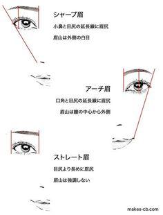 眉の形とバランス in 2020 Japanese Makeup, Korean Makeup, Eyebrow Makeup, Hair Makeup, Learn Makeup, Putting On Makeup, Makeup Techniques, Girls Makeup, Beauty Make Up