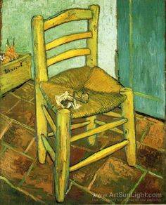 Vincent van Gogh - I swear I had a chair like this as a university student... it even had a hole in it! :-)