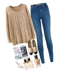"""""""Untitled #640"""" by xfxcktylerjox ❤ liked on Polyvore featuring mode, Chanel, Too Faced Cosmetics en Burberry"""