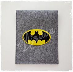 Batman figürlü keçe tablet kılıfı * www.misilaa.com * handmade * superheroes * felt * ipad kılıfı