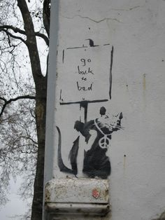 Banksy. Saw this one!