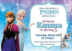 Free Frozen Birthday Party Invites disney frozen birthday party invitation kids birthday princess
