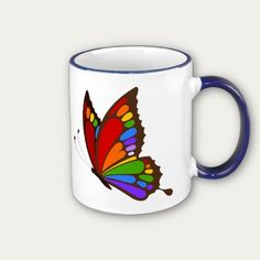 #Rainbow #Butterfly #Mugs $17.95
