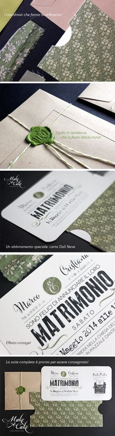 wedding invite suite vintage 1950 green inspiration ideas favor stationery you can find it at www.makeacake.it
