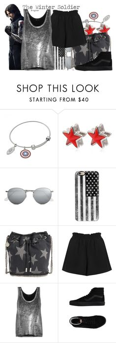 """""""The Winter Soldier (Captain America: Civil War)"""" by claucrasoda ❤ liked on Polyvore featuring Givenchy, Ray-Ban, Casetify, STELLA McCARTNEY, Boutique, Ann Demeulemeester, Vans, 60secondstyle and PVShareYourStyle"""