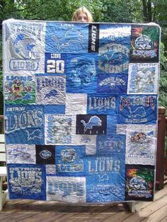 T-Shirt Quilt: I'd like to make this out of Tony's old shirts