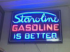 Staroline Gasoline Neon Sign