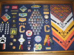 Cub Scouts Shadow box...what an amazing idea!  For Ben's display...