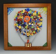 Lego Hot Air Balloon Mosaic by BrickBum