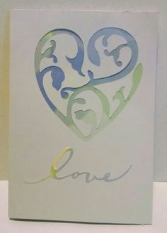 Pastel heart and love card