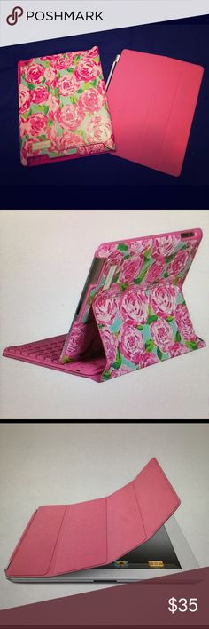 2 for 1! Lilly Pulitzer iPad Keyboard Case Lilly Pulitzer iPad Keyboard Case (in pattern First Impression) with BONUS! Apple iPad Smart Cover Lilly Pulitzer Accessories Tablet Cases