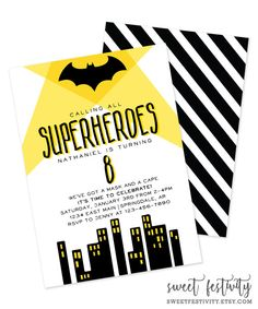 free batman invitation template free printables from paper trail