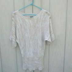 Tan Button Sweater Top Super cute and comfy sweater top! Faded Glory Tops