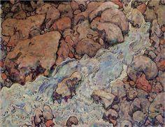 Mountain Torrent - Egon Schiele 1918