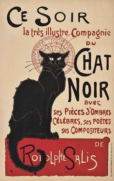 Chat Noir, Théophile Alexandre Steinlen. French (1859 - 1923)