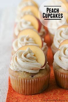 Peach Cupcakes Recipe on Taste and Tell at http://www.tasteandtellblog.com/peach-cupcakes-recipe/