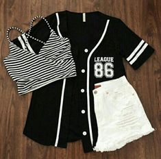 Party Outfit Black And White Teen Fashion Super Ideas Cute Casual Outfits, Swag Outfits, Mode Outfits, Cute Summer Outfits, Stylish Outfits, Fall Outfits, Party Outfits, White Outfits, Teen Fashion Outfits