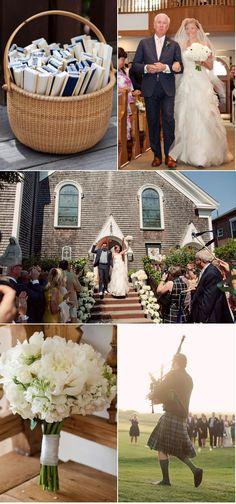 I love the bag piper at the wedding... I want a bag piper! :)