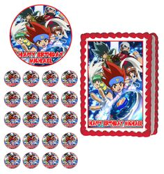 1000 images about beyblade party ideas on pinterest for Anime beyblade cake topper decoration set
