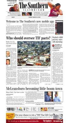 Front page the southern illinoisan march 31 2013