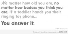 if a toddler...