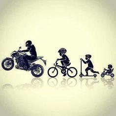 its my evolution in one picture xD Motorcycle Tattoos, Motorcycle Art, Motorcycle Stickers, Duke Bike, Guzzi V7, Bike Drawing, Bike Sketch, Bike Pic, Bike Photoshoot