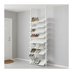"""IKEA - ELVARLI, Shoe shelf, 31 1/2x14 1/8 """", , Here there's room for everything, from dance shoes to boots. With the angled shoe shelves you'll quickly find your favorites and if you need more space you can quickly move the shelves or buy more.The shoe shelf gives you a good overview of your shoes in a wardrobe.Solid bottom prevents any dirt from falling outside the shelf.Durable and easy to clean."""