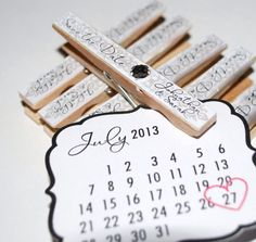 Wedding Save the Date Personalized Magnet Clothespin in Custom Colors and Patterns Wedding Save The Dates, Our Wedding, Wedding Stuff, Wedding Rings, Clothespin Magnets, Clothespins, Winter Wedding Invitations, Save The Date Magnets, Wedding Inspiration