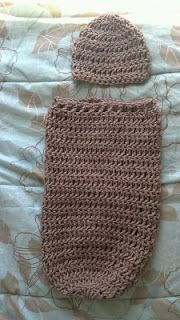 Free Crochet Pattern- Newborn Cocoon and Hat