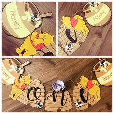 Bear Birthday, High Chair Banner, Pooh Bear, Baby Crafts, Winnie The Pooh, Sweet, Party, Cute, Babies