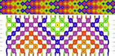 Rainbow chevron friendship bracelet pattern number #7966 - For more patterns and inspiration visit our web or the app!