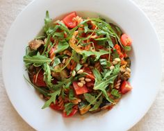 Sun dried tomato, aubergine (eggplant) & pine nut pasta: vegan, glutenfree