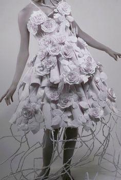Paper Dress - Roses