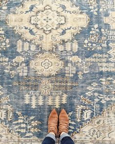 Vintage Decor Living Room That time I stayed up way too late scouring the Internet for the perfect vintage rug and it totally paid off. Our new conference room is so lucky! Rugs In Living Room, Living Room Decor, Bedroom Rugs, Master Bedroom, Dining Rooms, Living Area, Mid Century Rug, Studio Mcgee, Cool Rugs