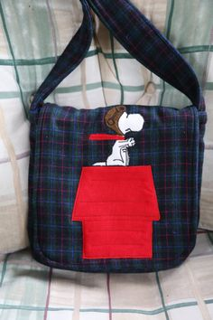 Snoopy and the Red Baron by StayingInStitches on Etsy