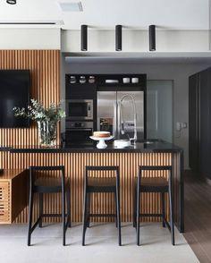 Super ideas for modern kitchen storage woods Industrial Style Kitchen, Modern Kitchen Design, Interior Design Kitchen, Kitchen Contemporary, Home Decor Kitchen, Home Kitchens, Küchen Design, House Design, Home Bar Designs