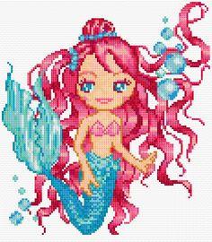 free cross stitch mermaid chart
