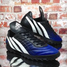 ef2de45006d7 adidas Mens Predator Football Trainers Black/Blue sz 12 VTG Astro Turf 47.3  12.5