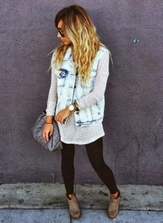 Casual outfit. Would look better with high top bun.