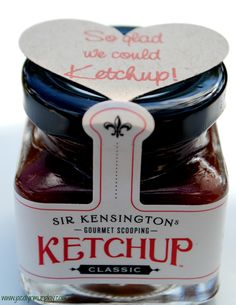 love this ketchup hostess gift idea