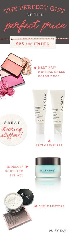 Spread the comfort and joy this holiday season with stocking stuffers under $25 perfect for your mom, daughter or bestie! | Mary Kay
