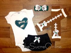 Hey, I found this really awesome Etsy listing at https://www.etsy.com/listing/176701976/eagles-game-day-outfit